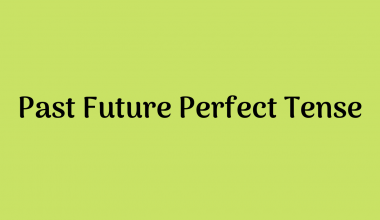 Past Future Perfect Tense