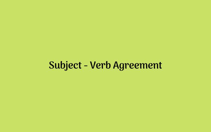 Subject-Verb Agreement dalam Bahasa Inggris