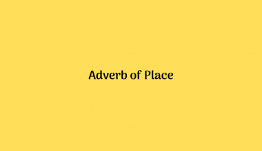 Adverb of Place