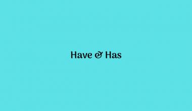Penggunaan Have dan Has
