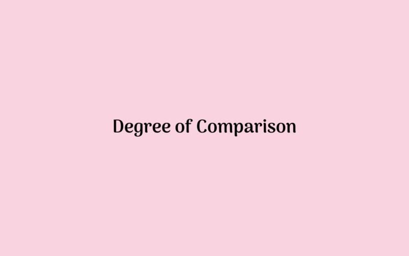 Pengertian Jenis Rumus dan Contoh Kalimat Degree of Comparison